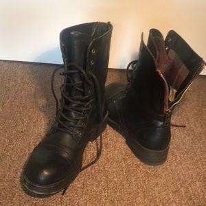 Madden Girl Combat Boots